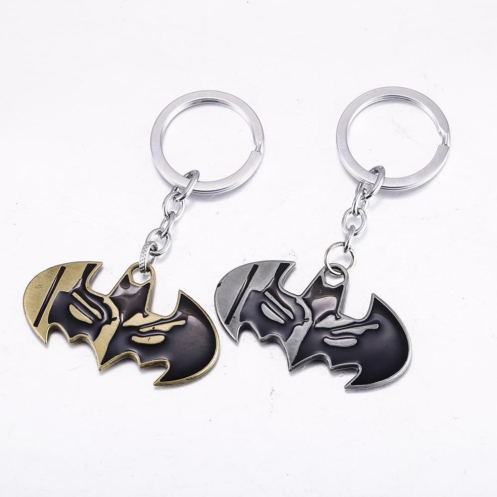 MS JEWELS Superhero Batman Key Chain Bat Logo Metal Key Rings For Gifts 2 Colors Chaveiro Keychains