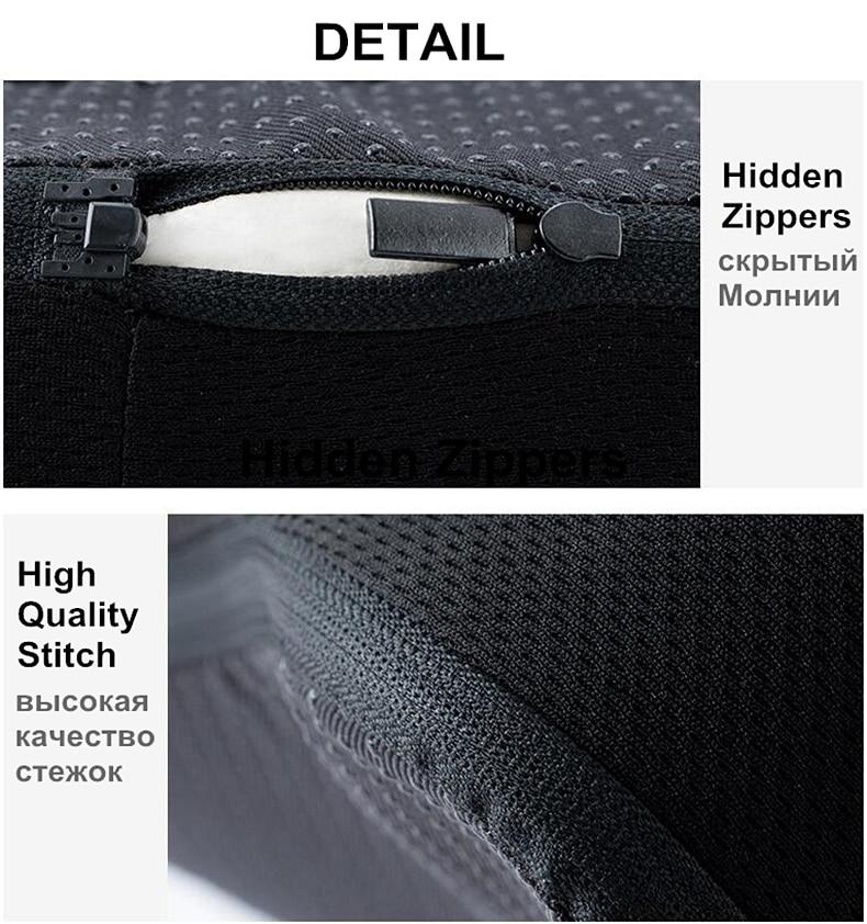PurenLatex Memory Foam Caudal Vertebra Protect Orthopedic Chair Pillow Coccyx Cushion Pad Car Seat Mats Prevent Hemorrhoid Treat