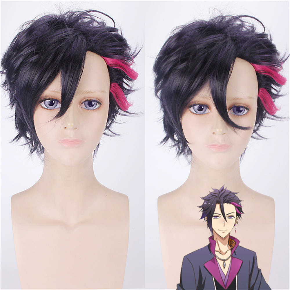 Hot Sale Anime The Animation Mutsuki Hajime 40cm Short Curly Cosplay Wigs for Man Boys U ...