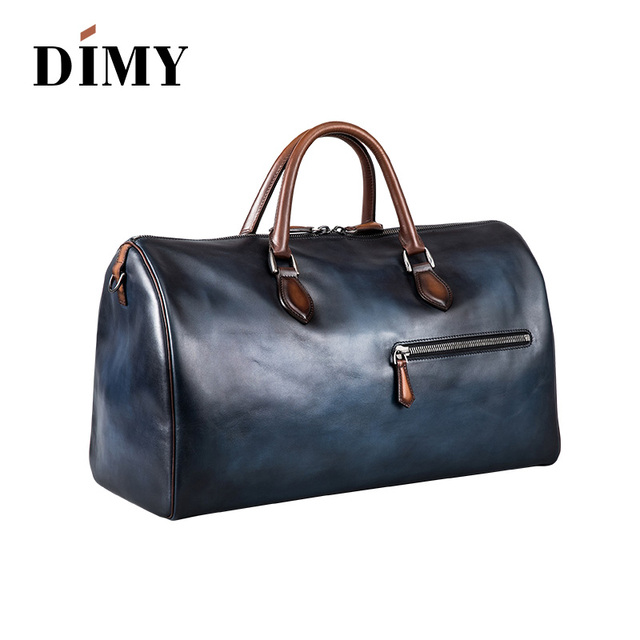 Designer Luxury Handmade Italian venezia Jour Off Leather Travel Bag  Holdall Duffle leather luggage for men a40d5e827ffbb