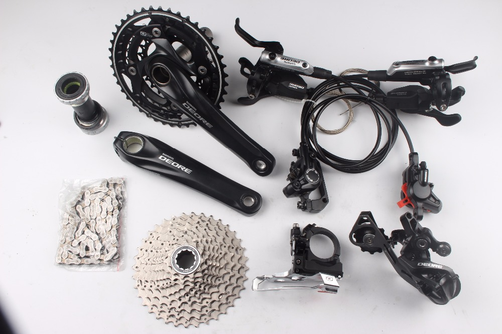 shimano Deore M610 3x10 speed kit bike bicycle MTB Groupset Group Set with i spec-b brake shimano deore m610 m615 3x10 2x10 speed kit bike bicycle mtb groupset group set i spec b shifter m615 brake m615 hub