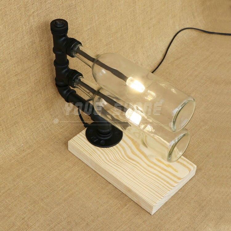 Бесплатная доставка в винтажном стиле winebottles G4 Winebottle настольная лампа