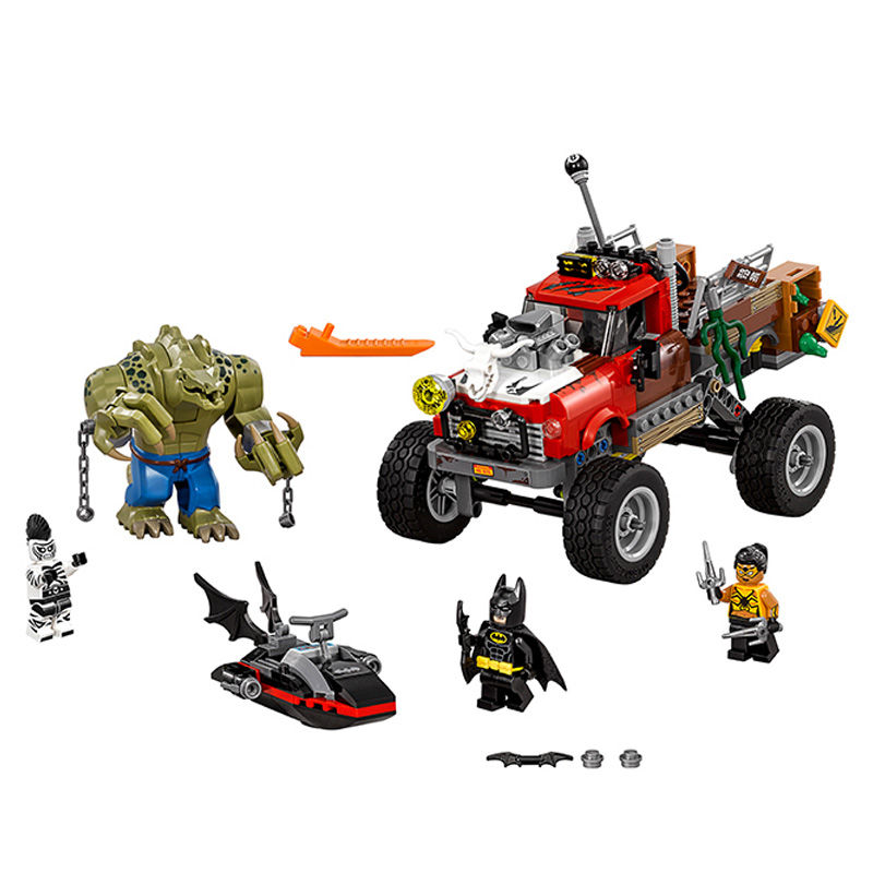 460pcs Super Heroes Batman Movie Bricks Killer Croc Tail Gator Toy For Children Building Blocks Compatible with LegoINGly batman