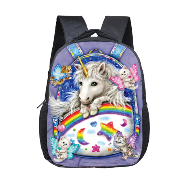 12 zoll cartoon unicorn schulrucksack schulranzen m dchen. Black Bedroom Furniture Sets. Home Design Ideas