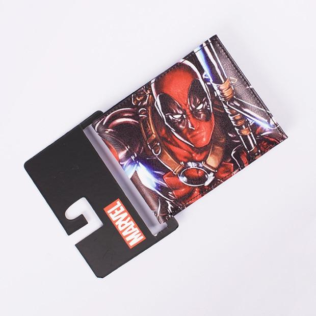 2be36a36fe DC Marvel Comics carteras de cuero Popular muerto piscina monedero carteira  feminina Casual marca hombres dinero bolsos