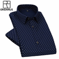 2016 Men Dress Short Sleeve Shirt Male Summer New Arrival Polka Dot Printed Casual Slim Fit Breathable Cotton Fashion Shirt M059