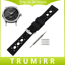 Silicone Rubber Watchband for Maurice Lacroix Pontos Masterpiece Watch Band Wrist Strap Bracelet 19mm 20mm 21mm 22mm 23mm 24mm