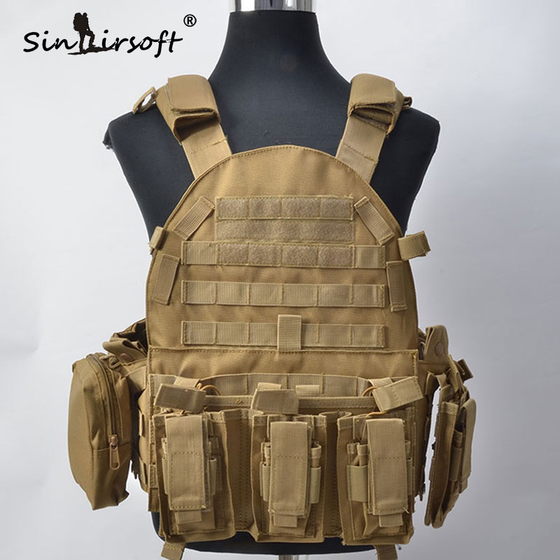 TACTIFANS Airsoft Tactical Military Molle Combat Assault Plate Carrier Vest Hunting Vest Chest Protective Plate Carrier Vest military tactical vest spanker mp7 chest rig airsoft painball military combat vest multicam airsoft plate carrier ammo