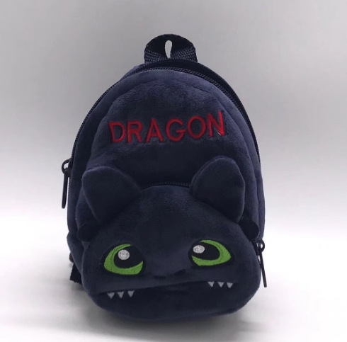 How to Train Your Dragon 3 Coin Purse Toothless light Fury Plush ba Night Fury Dragon Mini plush bag small buckle doll toys in Stuffed Plush Animals from Toys Hobbies