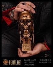 OGRM Bronze Crafts Solid Bronze T2 Bust Casting Replica 1:2 Terminator Salvation T800 Skull Endoskeleton Bust Figure Model