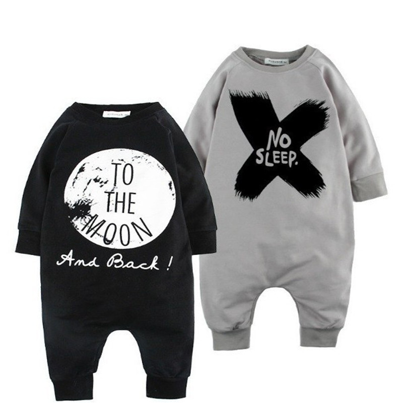 Alphabet printing Cotton Baby Boys long sleeve  Rompers Jumpsuit Outfits high quality toddler boys clothing