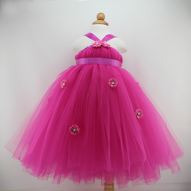 Cute Baby Girl Birthday Party Dresses Tutu Princess Infant Girl