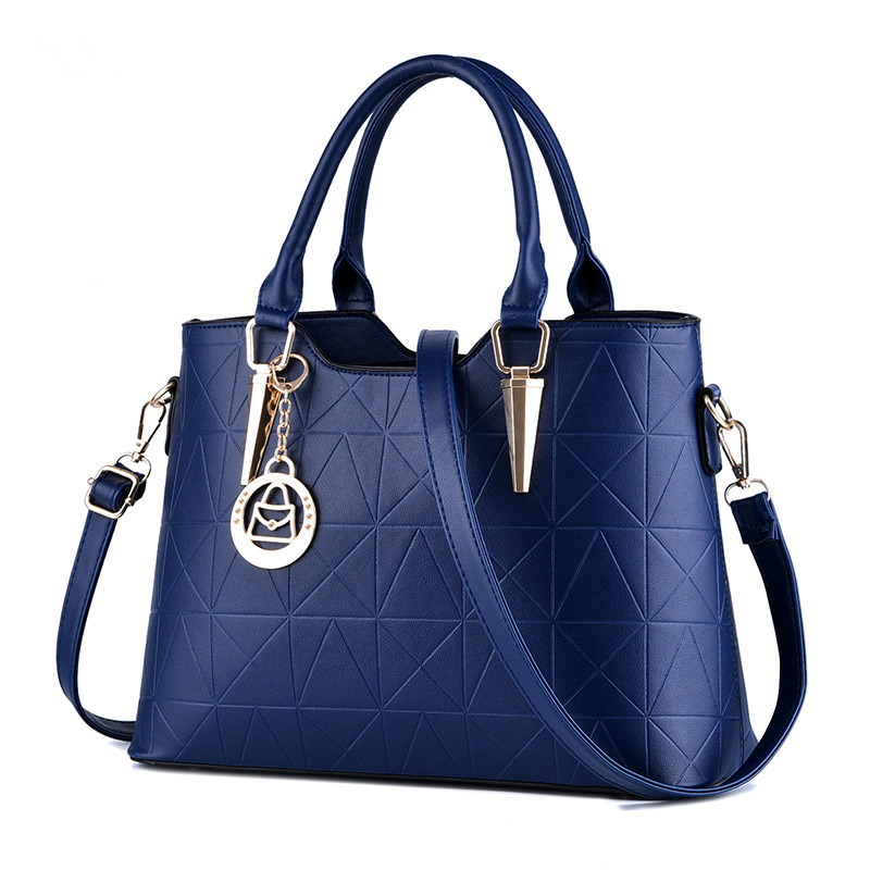 Elegant Royal Blue Women Handbag Tote Casual PU Office Lady Shoulder Bag Crossboday Messenger Zipper elegant pu office lady business handbag casual clutch fashion women shoulder bag zipper pink