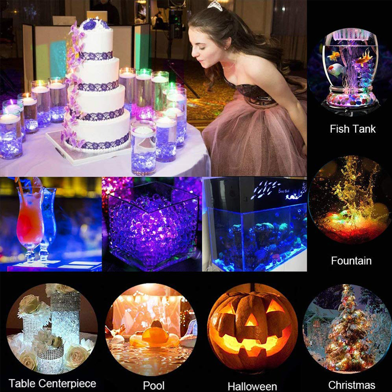 10pcs Submersible Led Lights Underwater Multi color with Remote Control Tea Lighting Pond Pool Fountain Decorations Mood Lamp in Holiday Lighting from Lights Lighting