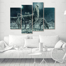wall Art picture Poster Canvas Painting home decor poster prints no frame painting for room  ptints wolf on canvas