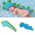 Small dinosaur design Adorable Newborn Crochet Outfits Baby Hat Baby Cap Newborn Photography Props