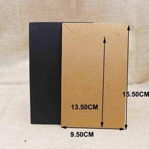 Image 3 - 15,5*9,5 см черное/крафт покрытие, большое ожерелье для костюма с витриной для сережек, карточка для демонстрации, 100 шт. + 100 подходящая сумка