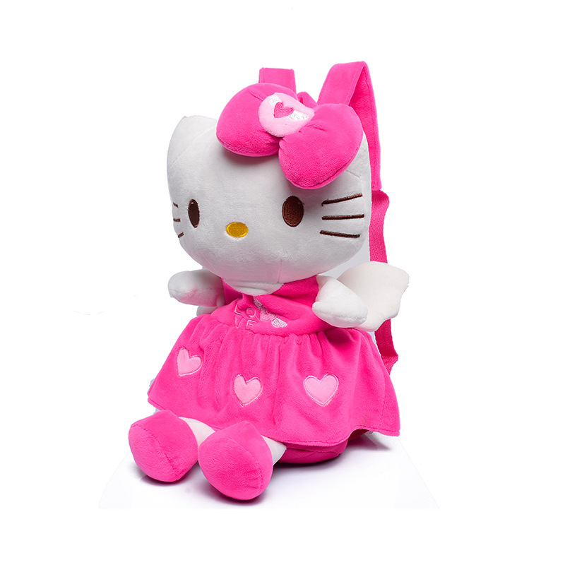 3D милые мягкие Kity плюшевые рюкзаки для девочек куклы и мягкие сумка красная роза дети рюкзак модная школьная сумка дети Детские сумка