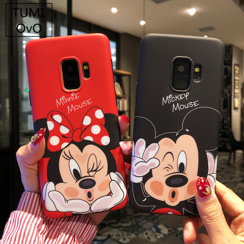 Luxury Lovely Silicone Cartoon 3D Mickey Minnie Pattern Soft TPU For Samsung Galaxy Note 8 S8 S9 Plus Back Phone Cases Cover