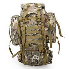 80L többfunkciós szabadtéri trekking utazási hátizsák nagy kapacitású hegymászó táskák Camouflage Mochila Militar Tactical hátizsák