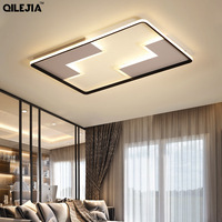 White and black ceiling lamp led plafon modern for Living Room with Remote Control Bedroom Ceiling AC90 260v lampara techo led