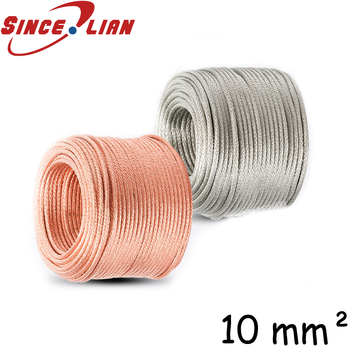 Copper braided  wire connection Railway grounding cable Distribution line Grounding bare copper line copper stranding wire