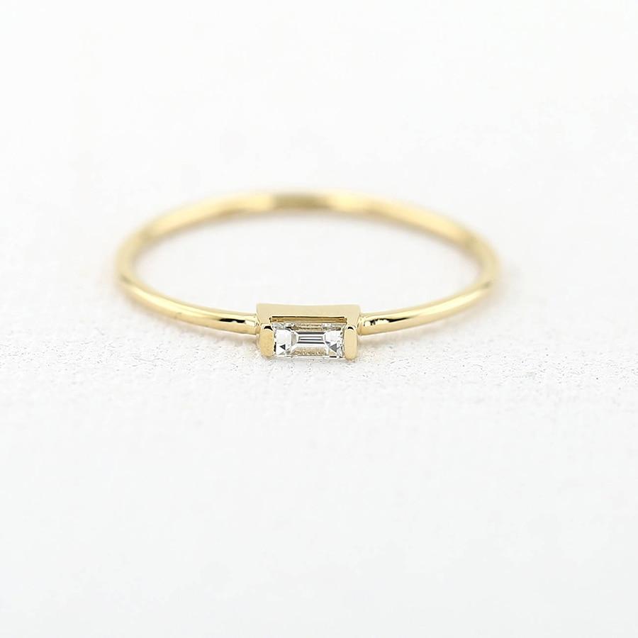 14 K Jaune Or Émeraude Moissanite Bague de Fiançailles Bande laboratoire Diamant Solitaire De Mariage pour les Femmes