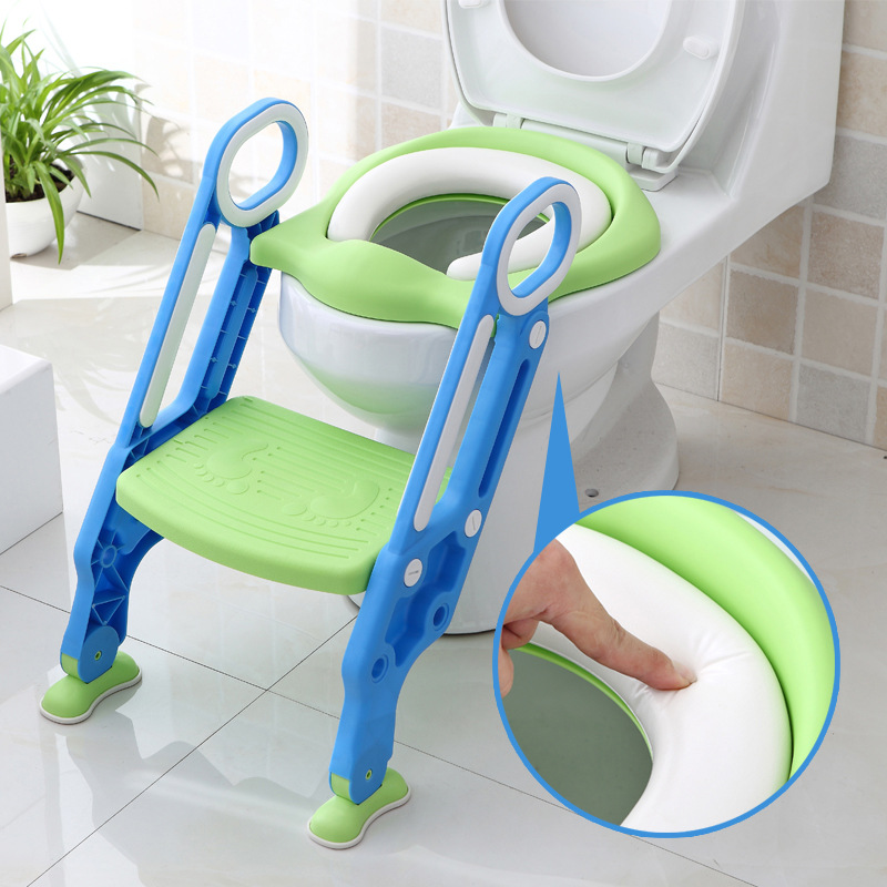 Baby Toilet Training Seats Children's Potty Baby Foldable Ladder Step Stools Infant Potty Training Folding Seat