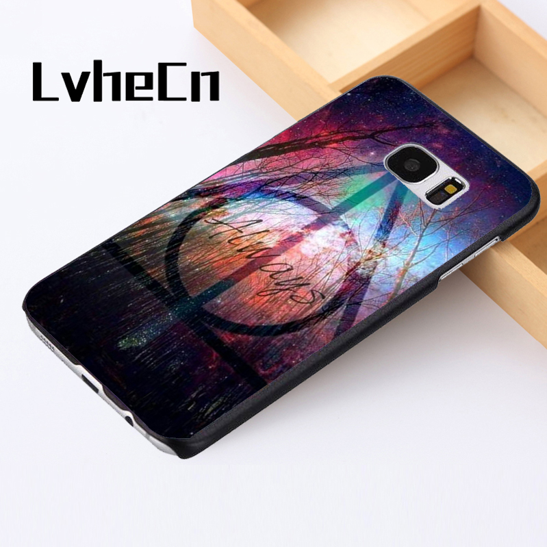 LvheCn phone case cover For Samsung Galaxy S3 S4 S5 mini S6 S7 S8 edge plus Note2 3 4 5 7 8 Always Trees Logo Night Sky Potter