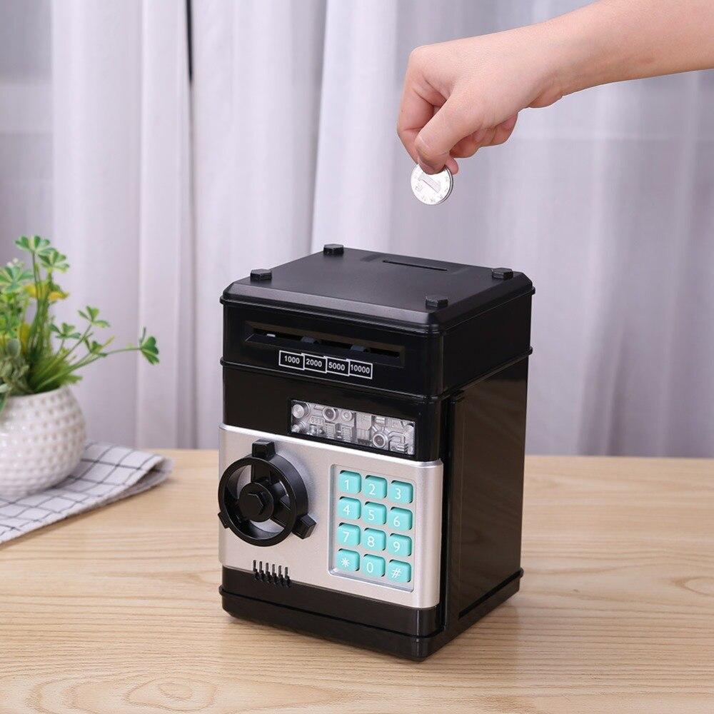 Piggy Banco ATM la contraseña de la caja de dinero electrónico automático Piggy efectivo moneda Caja de Ahorro de banco caja de depósito billetes