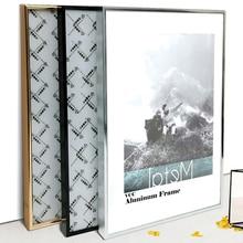 Алюминий A4 A3 Плакат рамка для стене висит, Книги по искусству декоративная рамка, металлическая рамка для фото, СЕРТИФИКАТ КАДР, рамки для фото