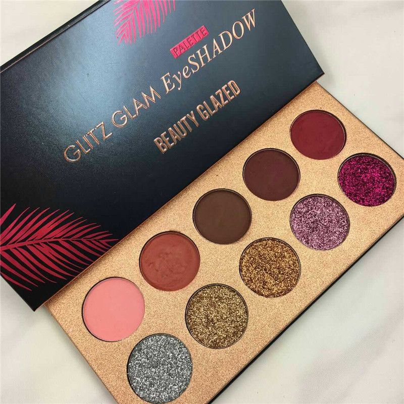 купить Beauty Glazed Pro Makeup Glitter Eyeshadow Cosmetic Makeup Shimmer Pigment Loose Powder Beauty Nude Eye Shadow 10 Colors онлайн