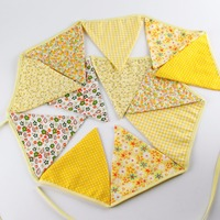 Handmade Fabric Bunting Flags Wedding Supplies Photo Booth Prop Casamento Banner Party Baby Shower Party Vintage