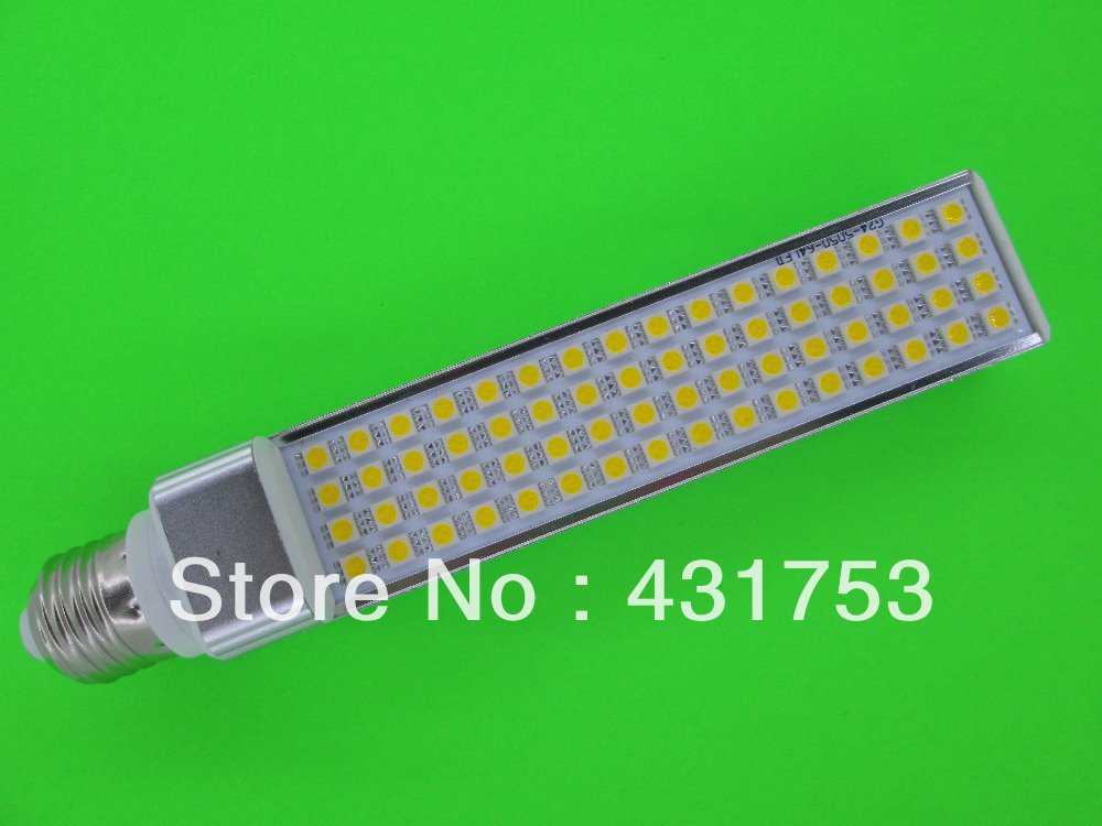 E27 G24 LED Bulb 13W 5050 SMD 64 LED  Corn Light Lamp Cool White/Warm White AC 85V-265V Side lightin( High Brightness )g gc e14 3w 170lm 3000k 64 3014 smd led warm white light corn bulb ac 90 240v