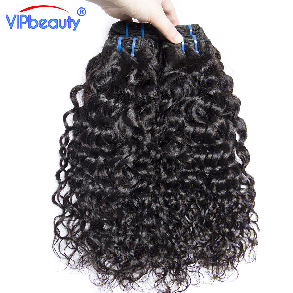 Vip beauty Indian water wave weave human hair bundles Non-remy hair extension ,natural color 1b can be straightened 10-28inch