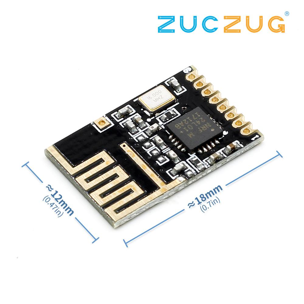 1pcs Wireless Transceiver NRF24L01+ 2.4GHz Antenna Module For Microcontroll