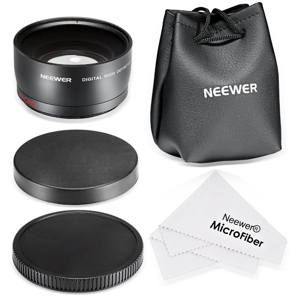 Neewer 58MM 0 43X Professional HD Wide Angle Lens Macro for Canon EOS 1100D 550D 700D