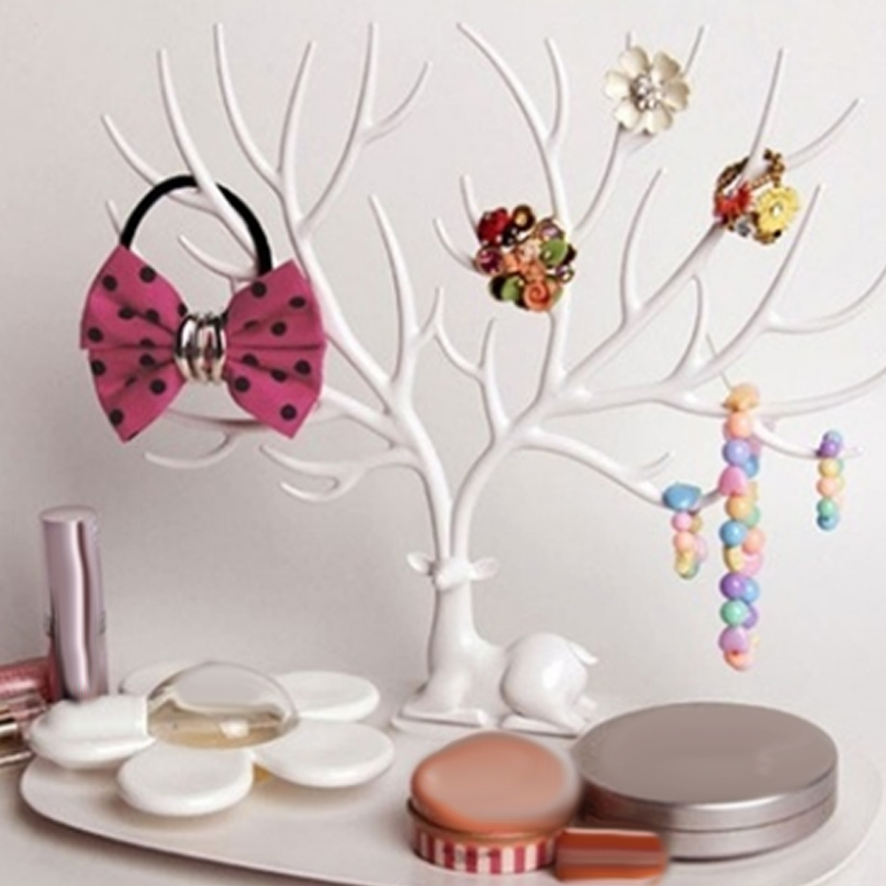 Jewelry Organizer Stand <font><b>Earring</b></font> Holder <font><b>Necklace</b></font> <font><b>Earring</b></font> <font><b>Ring</b></font> <font><b>Bracelet</b></font> Jewelry Display Stand Tree Storage Racks Organizer Holder image