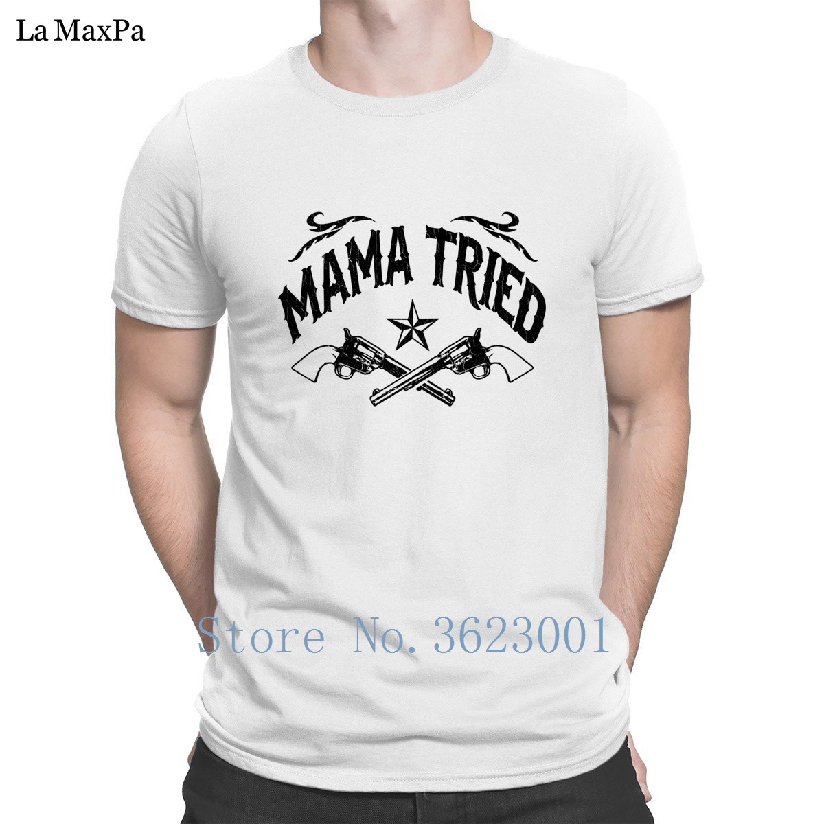 Create Big Sizes T Shirt For Men Mama Tried Vintage Distressed Look T-Shirt Stylish New Tshirt Vintage Hot Sale Basic Solid
