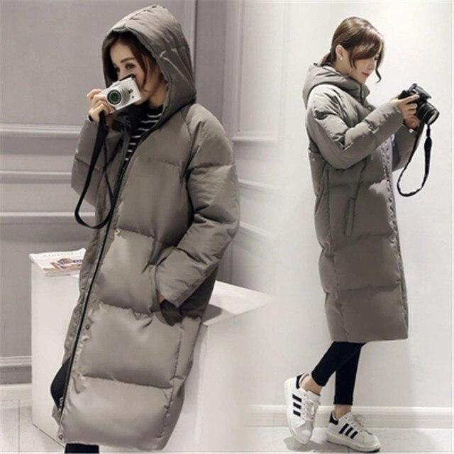 Jacket Women 2017 Winter Coat X-Long Plus Size Parka Hooded Cotton-Padded Down Coats Women Wadded Outwear Abrigos De Mujer MZ764