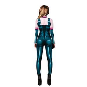 Image 5 - Anime My hero academia Asui Tsuyu Cosplay Costumes Jumpsuit OCHACO URARAKA Halloween Fancy Ball Suit Romper For Women Lady Girls