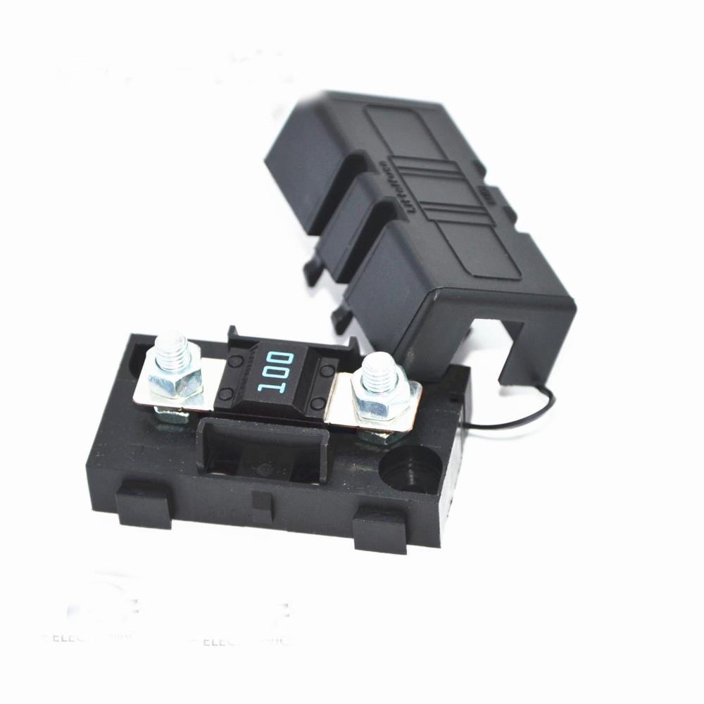 Free shipping 1pc littelfuse 498 midi series small car fuse holder Bolt fuse base No car auto fuse