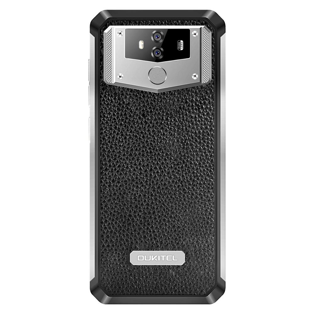 "טלוויזיות 25-29 OUKITEL K12 6G RAM 64G ROM אנדרואיד 9.0 טלפון נייד 6.3"" 19.5: 9 MTK6765 10000mAh 5V / 6A Quick Charge טביעות אצבע Smartphone (5)"
