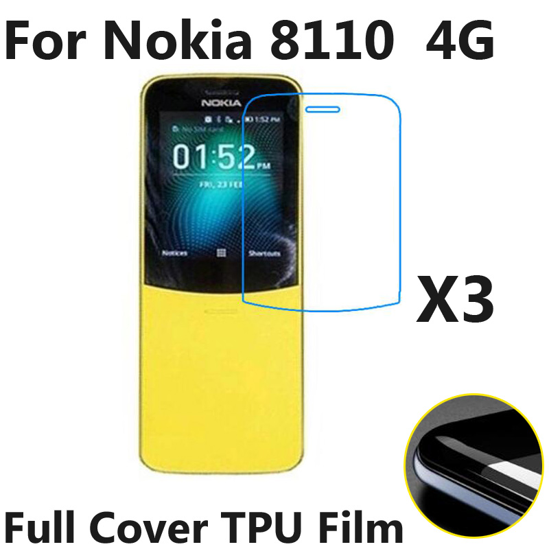 3pcs/lot Phone Screen Protectors For <font><b>Nokia</b></font> <font><b>8110</b></font> <font><b>4G</b></font> LTE TA-1071 Soft TPU Full Covered Explosion-Proof Protective Film (not Glass) image