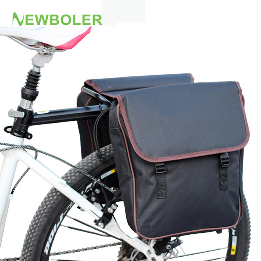 NEWBOLER MTB Bicycle Carrier Bag Rear Rack Bike Trunk Bag Luggage Pannier Back Seat Doub ...