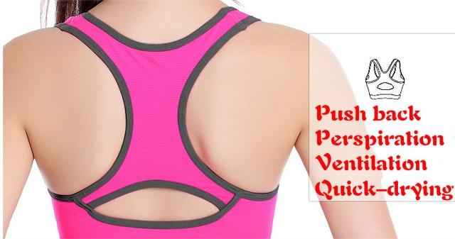 Women sport Bras Sexy Seamless Yoga Shirts Sport Bra Top Comfortable Bra Push Up for Sports