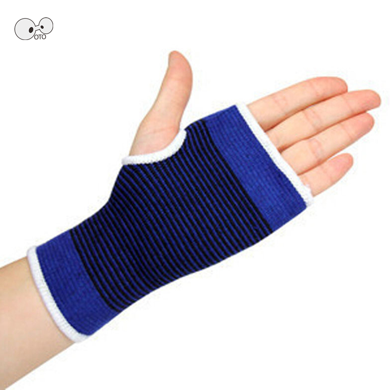 1 Pair Knitted Ventilate Wrist Guard Arthritis Brace Sleeve Elastic Palm Hand Wrist Supports Unisex Gym Fitness Workout Gloves