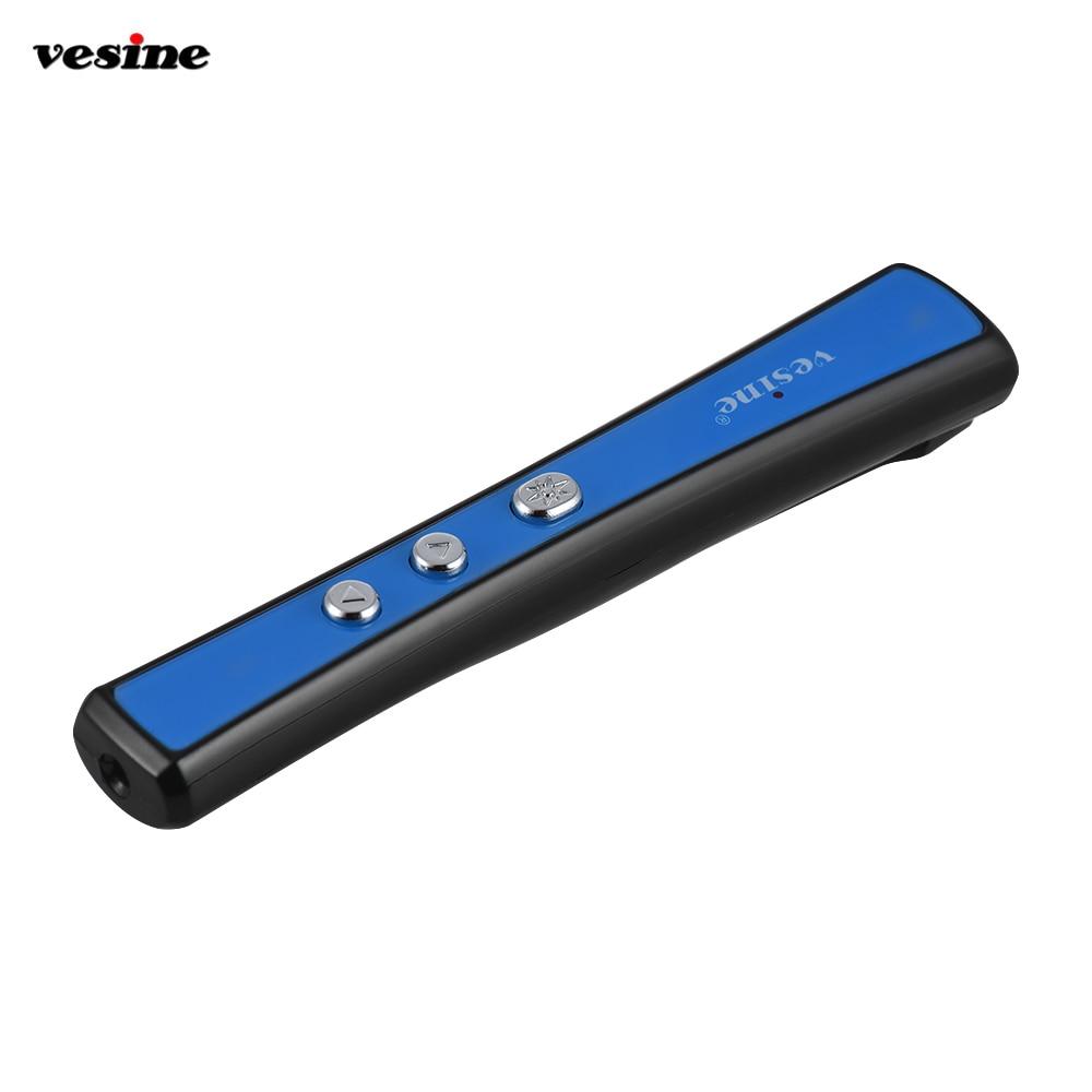 Vesine PP-900 2.4GHz Wireless Laser Pens Remote Powerpoint Presenter PPT Clicker Flip Pen Clip 15m Remote Control for lecture