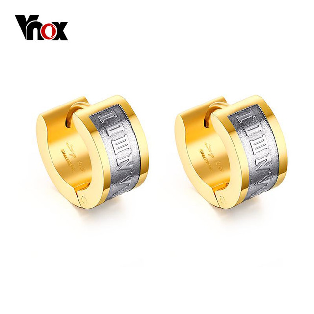 Vnox Roman Number Earrings for Men Small Stainless Steel Brincos Earings Unisex Jewelry.jpg 640x640 - Vnox Roman Number Earrings for Men Small Stainless Steel Brincos Earings Unisex Jewelry