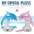 Flash dolphin 3D blocks puzzle toys & gifts 6--15 year old toys DIY three-dimensional crystal puzzle Home Furnishing jewelry